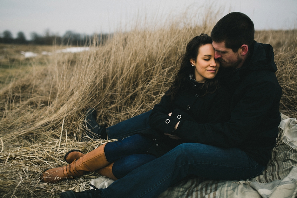 Muskoka engagement winter photos