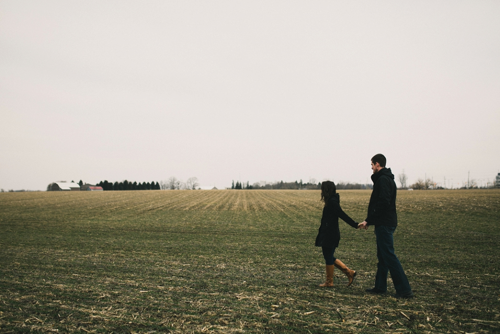 winter kitchener engagement photos