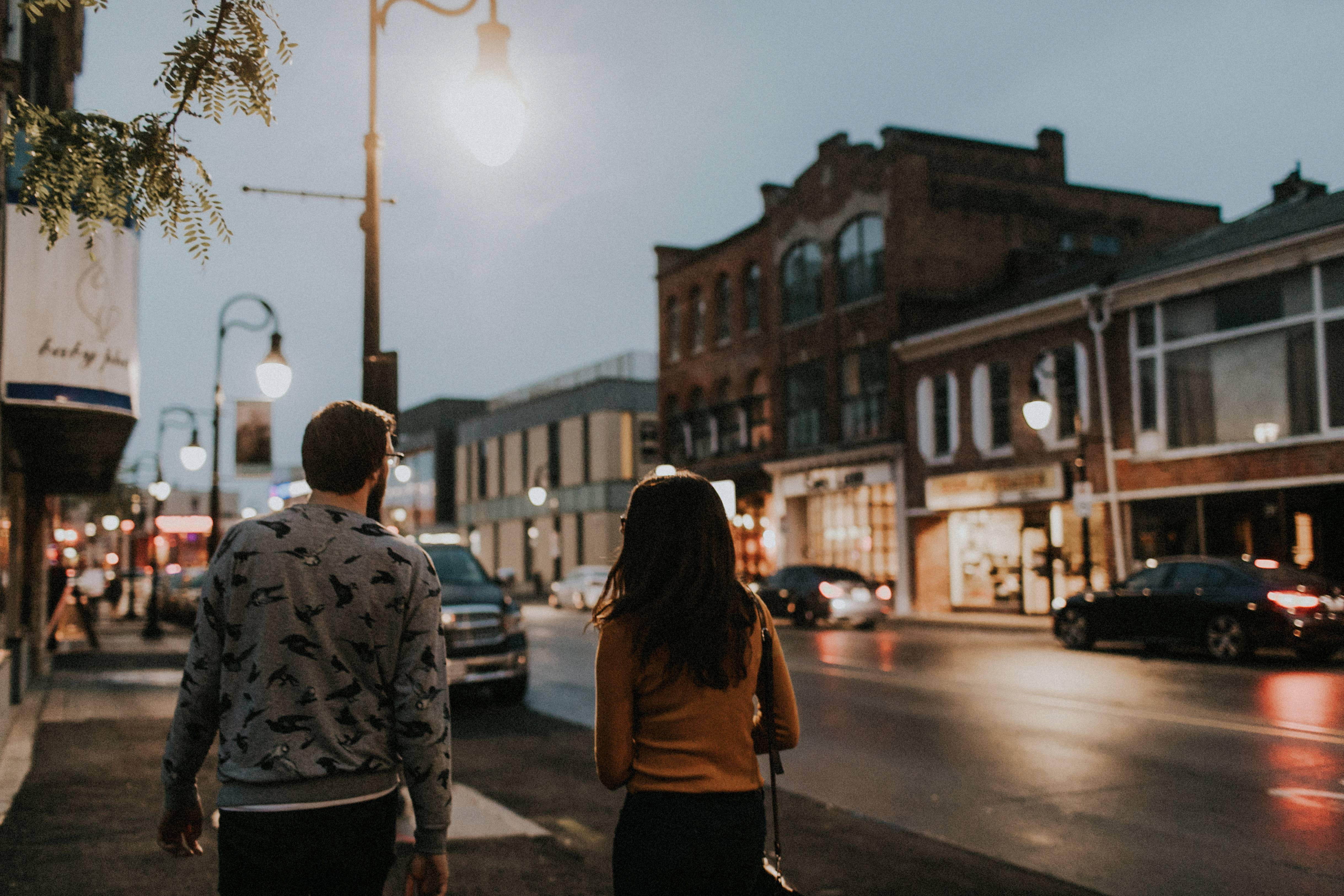 walking in downtown st. catharines