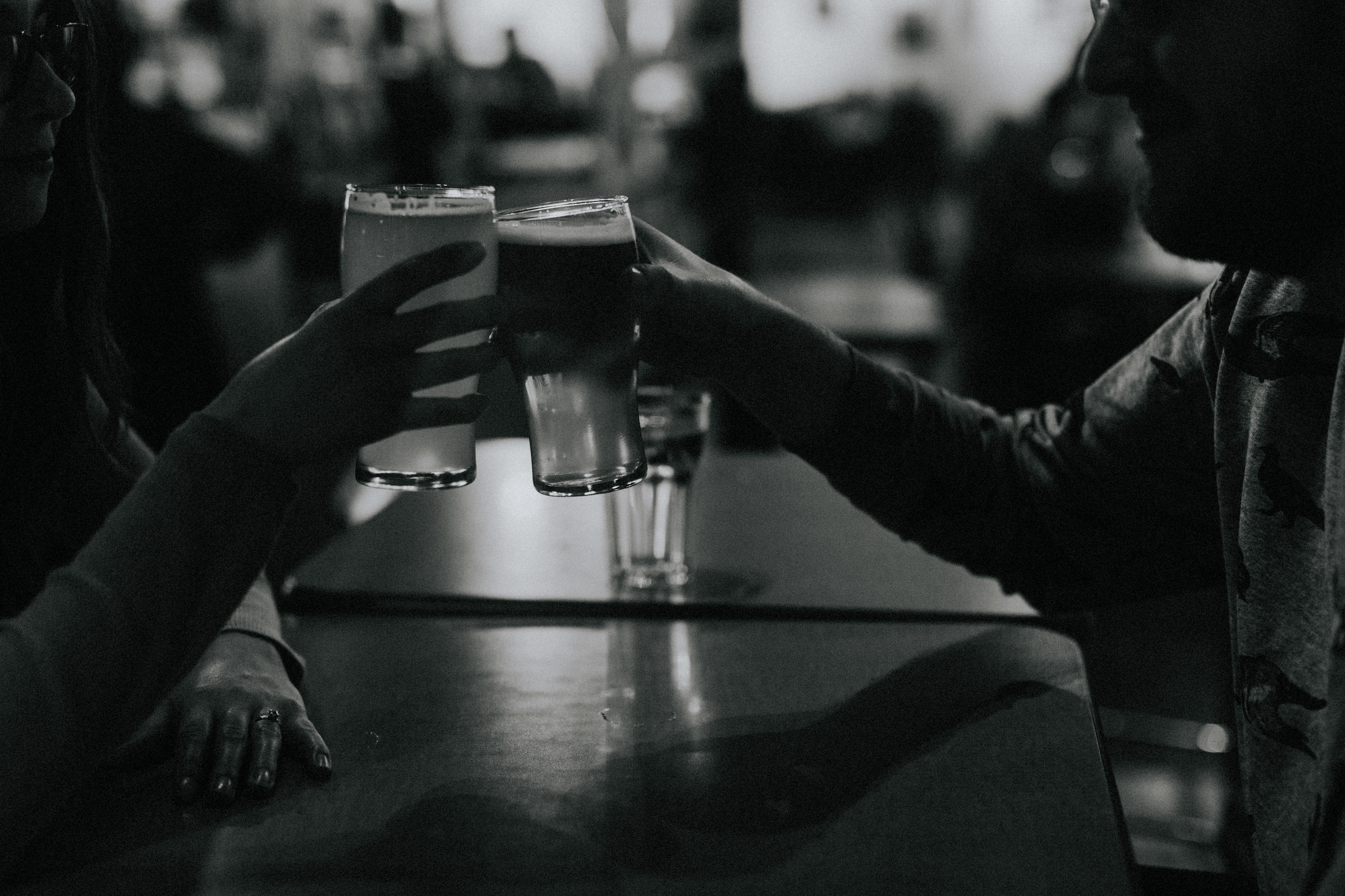 couple sharing a beer