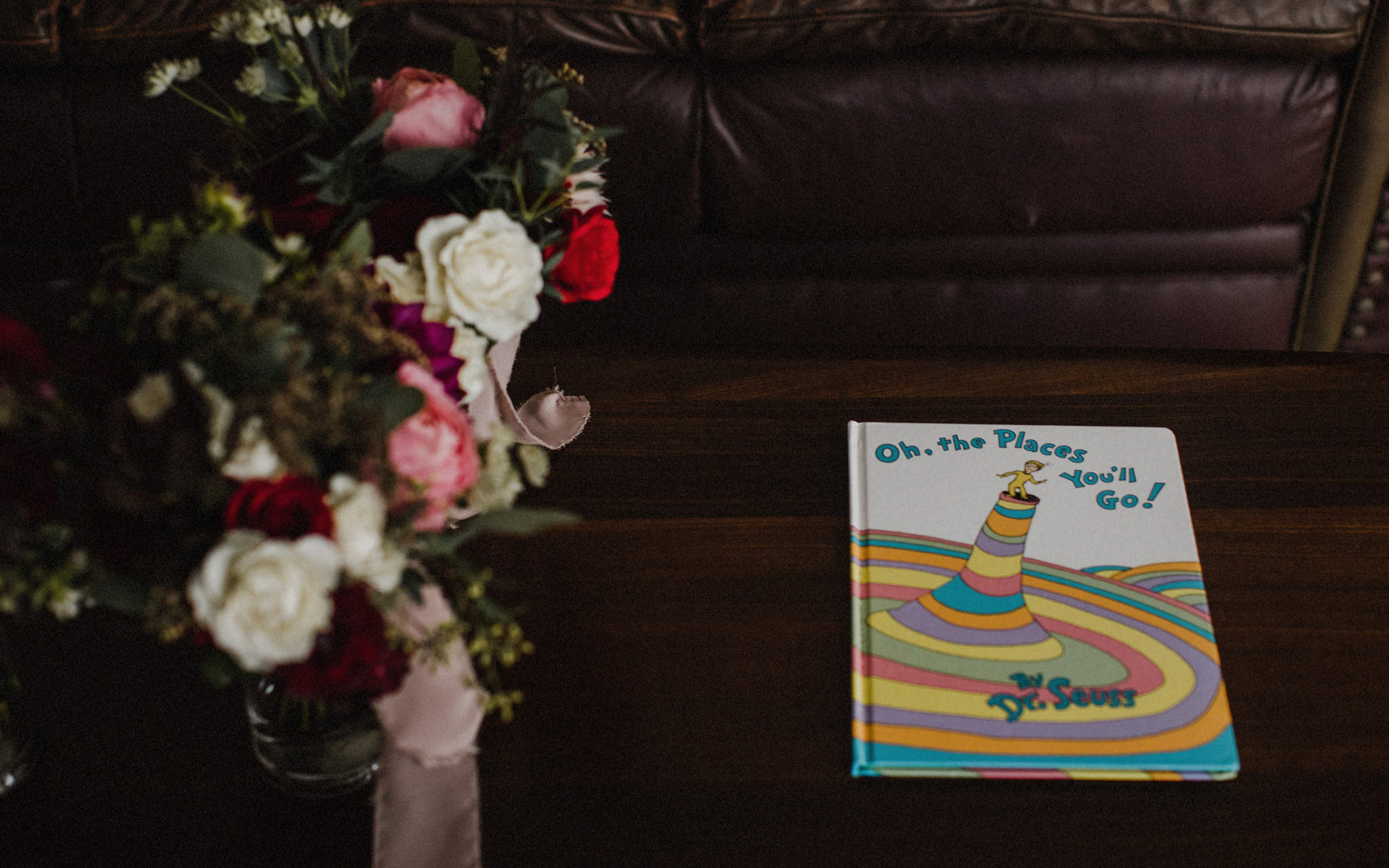 dr. seuss book on coffee table