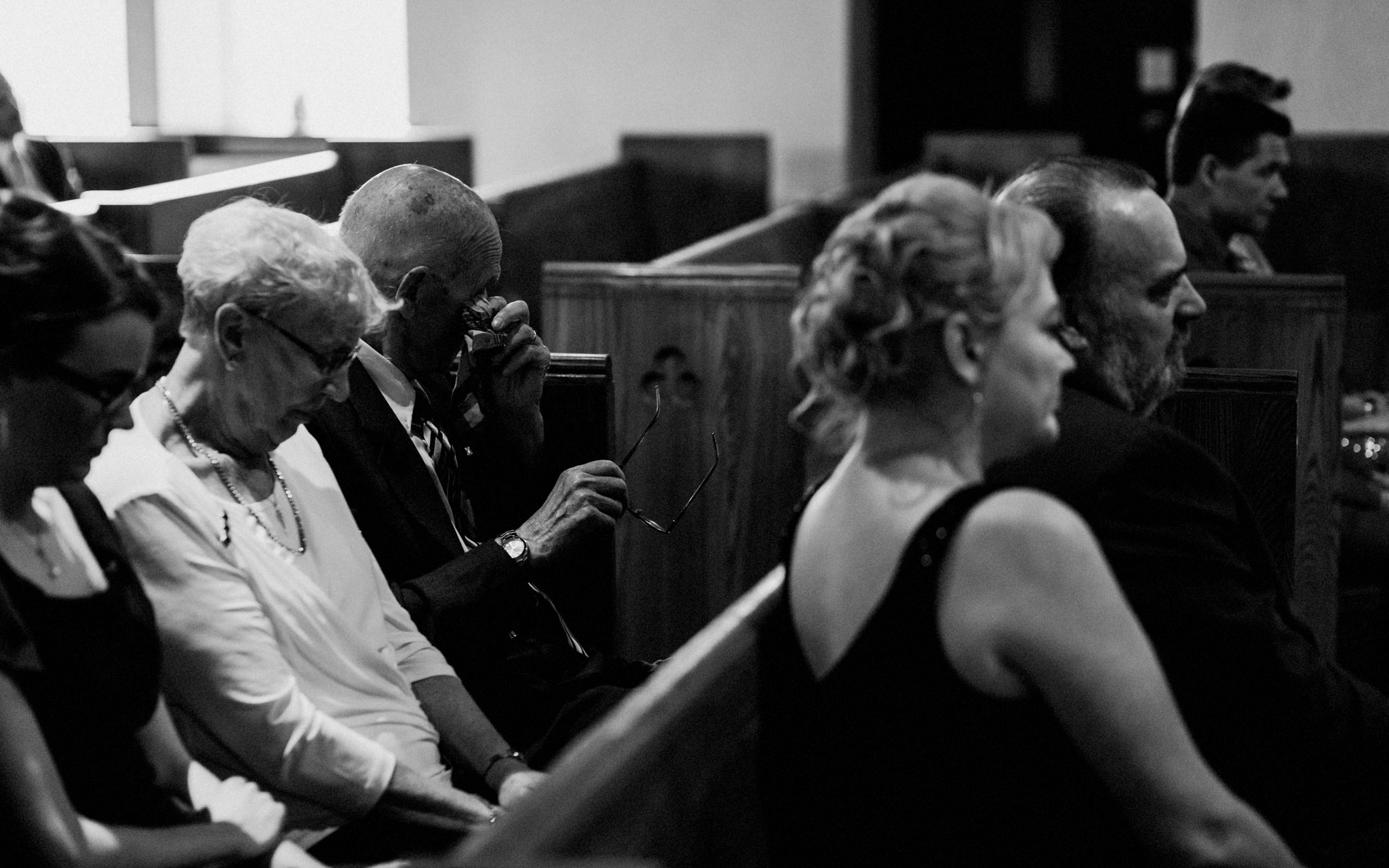 grandfather cries during vows