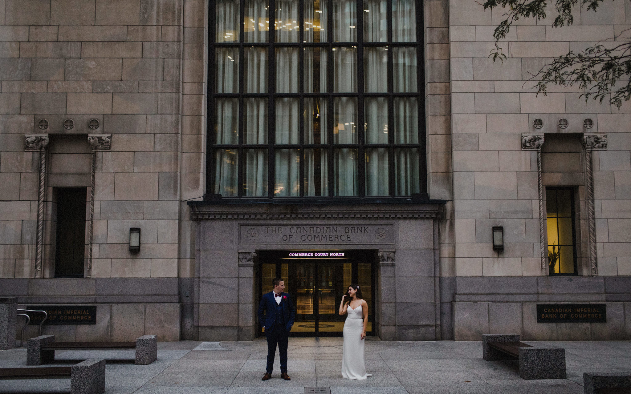 wedding portraits in downtown toronto