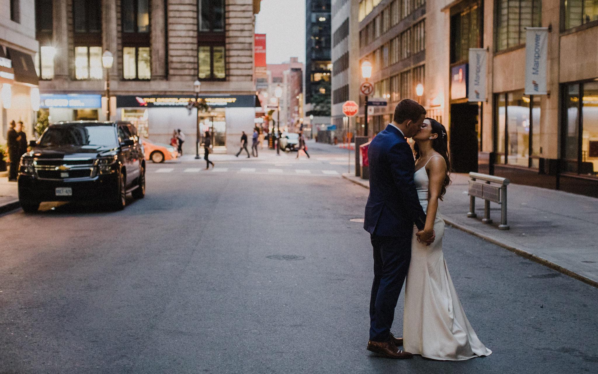 toronto wedding portraits after sunset
