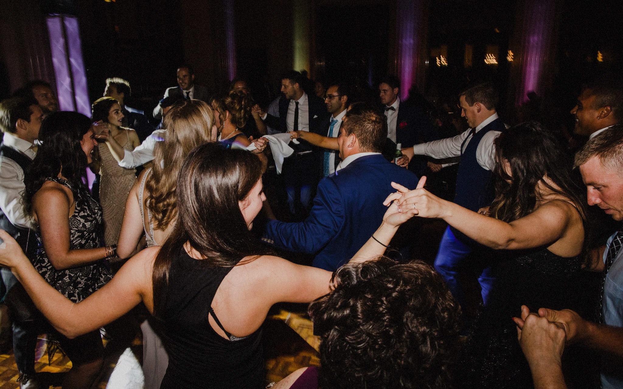 greek dancing at downtown toronto wedding