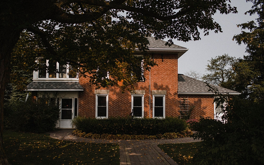 old red brick house