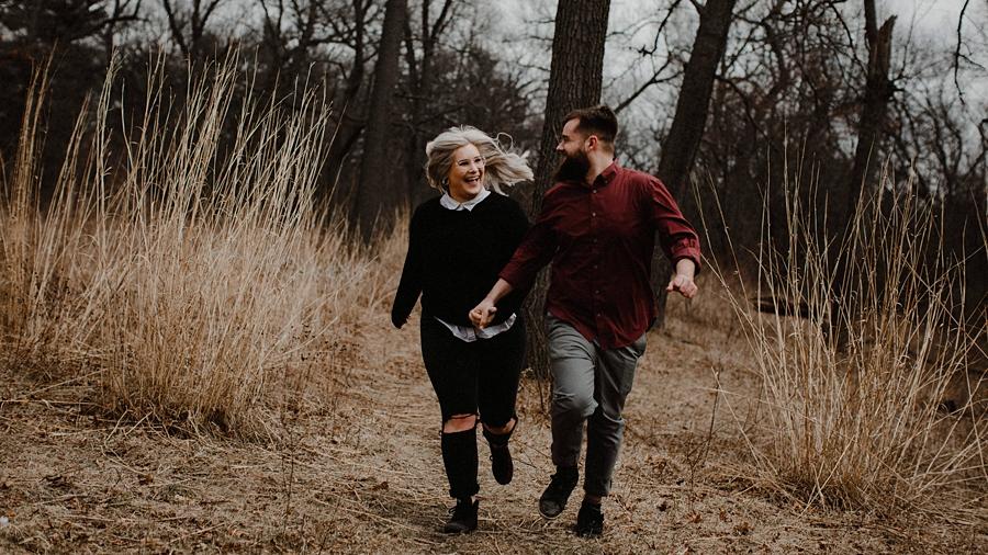 couple runs through high park