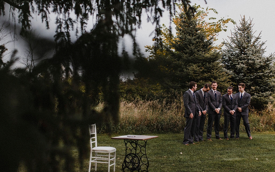 groomsmen wait for ceremony