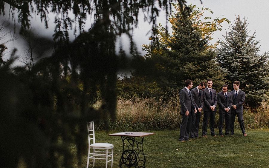 groomsmen wait for ceremony