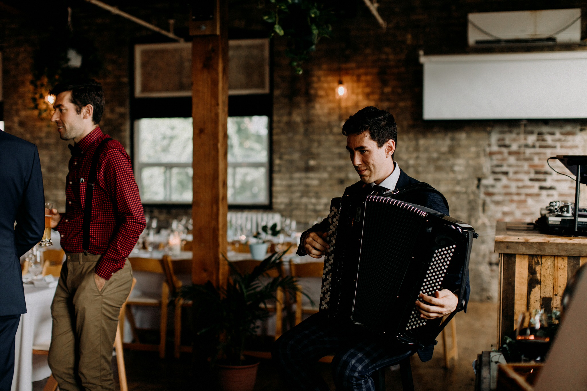 Merchants of Green Coffee Wedding - Accordion Player