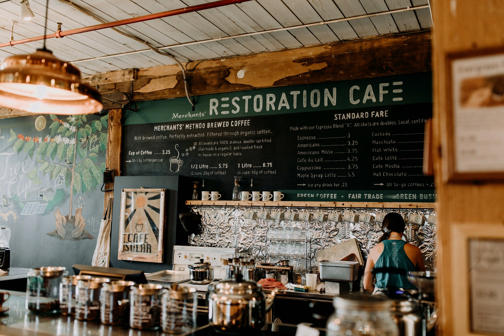 Merchants of Green Coffee Wedding - Restoration Cafe