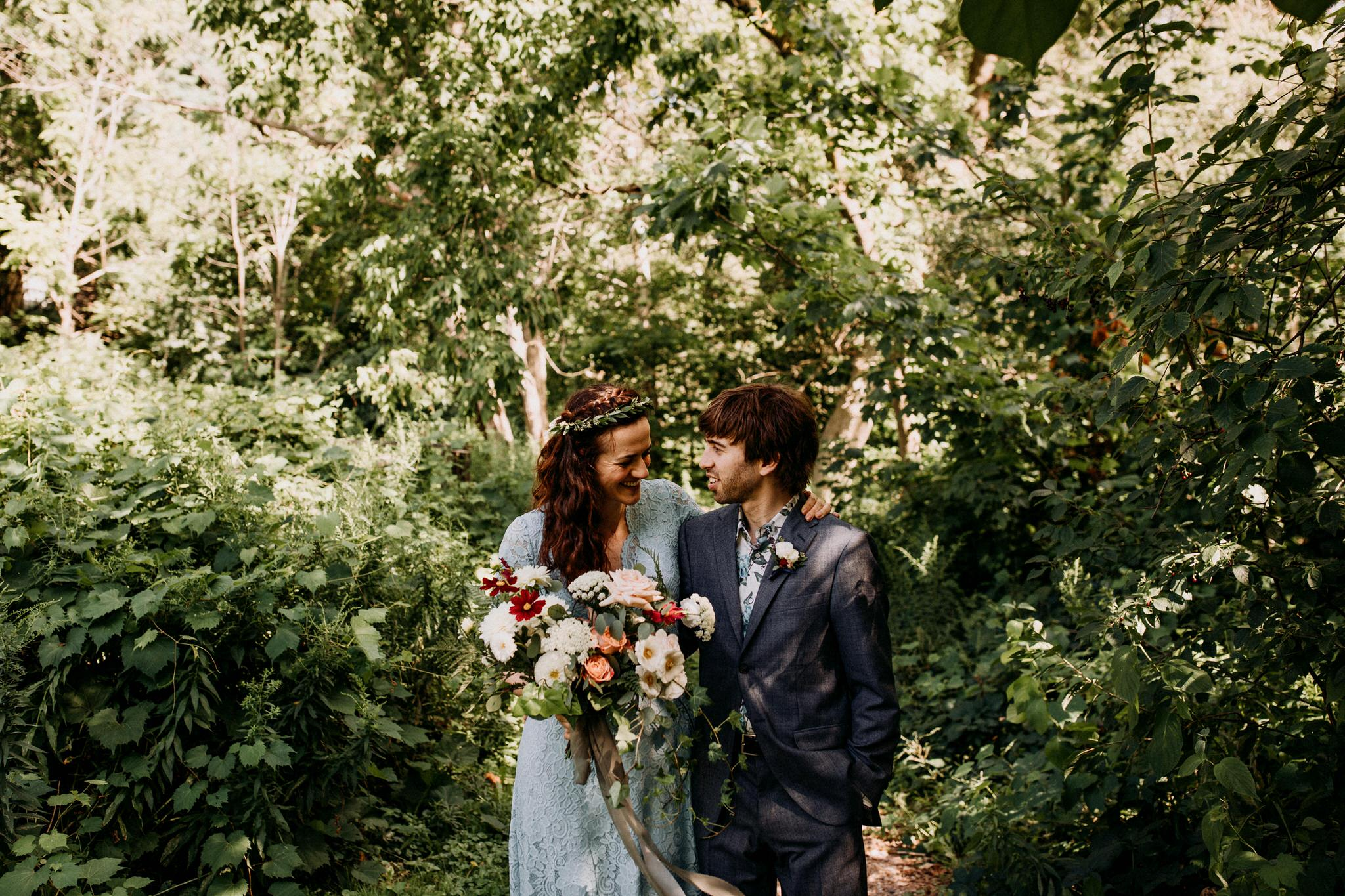 Merchants of Green Coffee Wedding - strolling through the forest