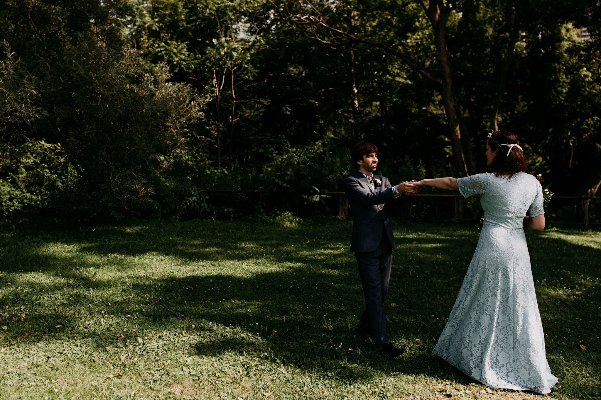 Merchants of Green Coffee Wedding - dancing in the park