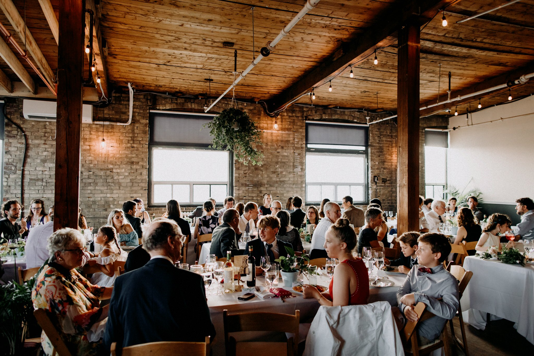 Merchants of Green Coffee Wedding - reception space