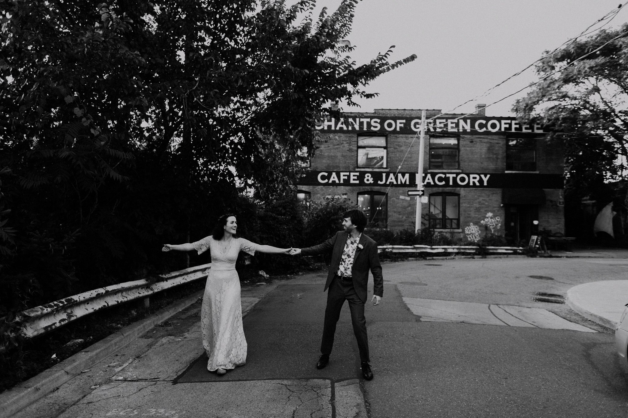 Merchants of Green Coffee Wedding - dancing outside