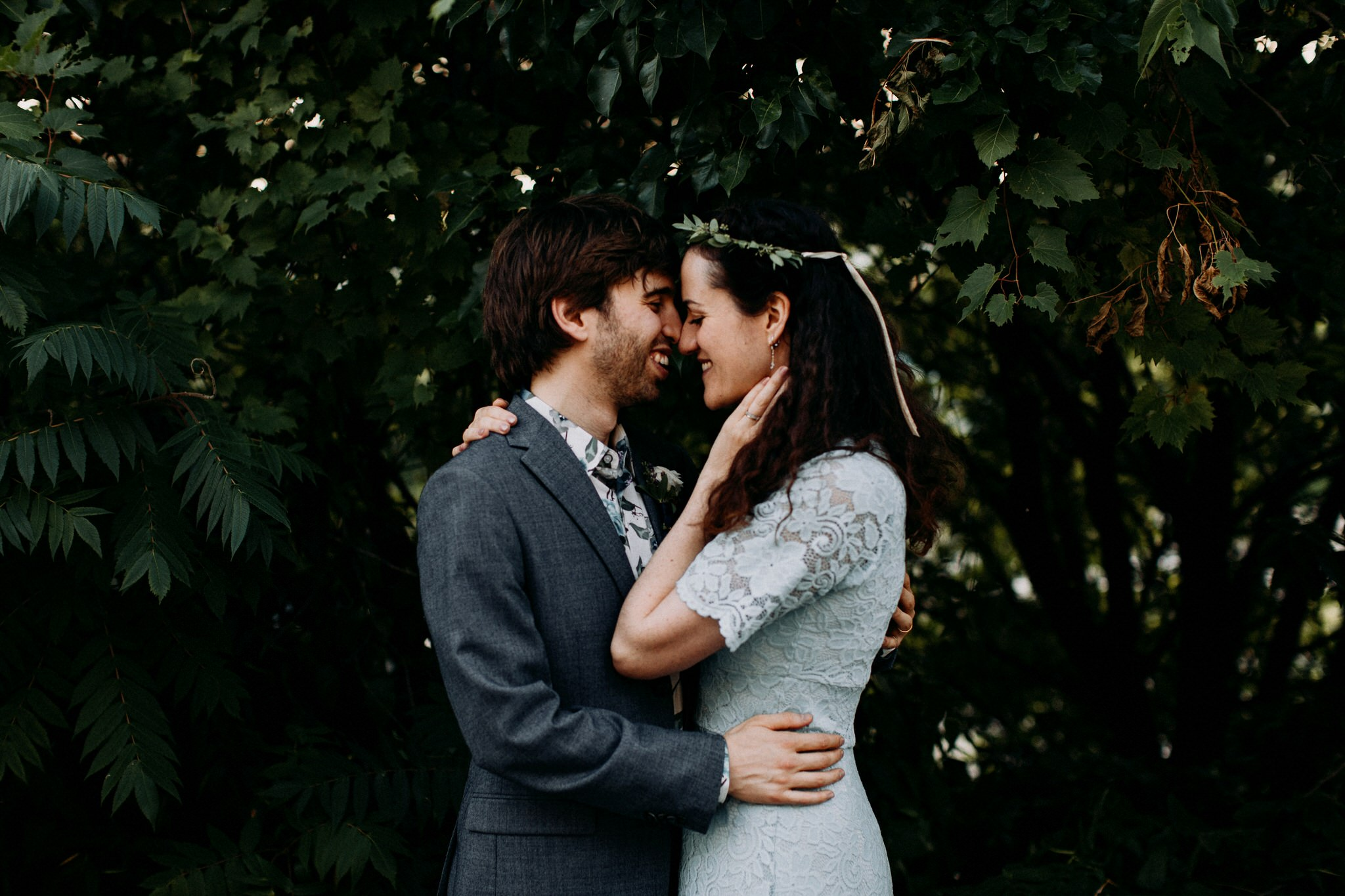 Merchants of Green Coffee Wedding - Portraits by the trees