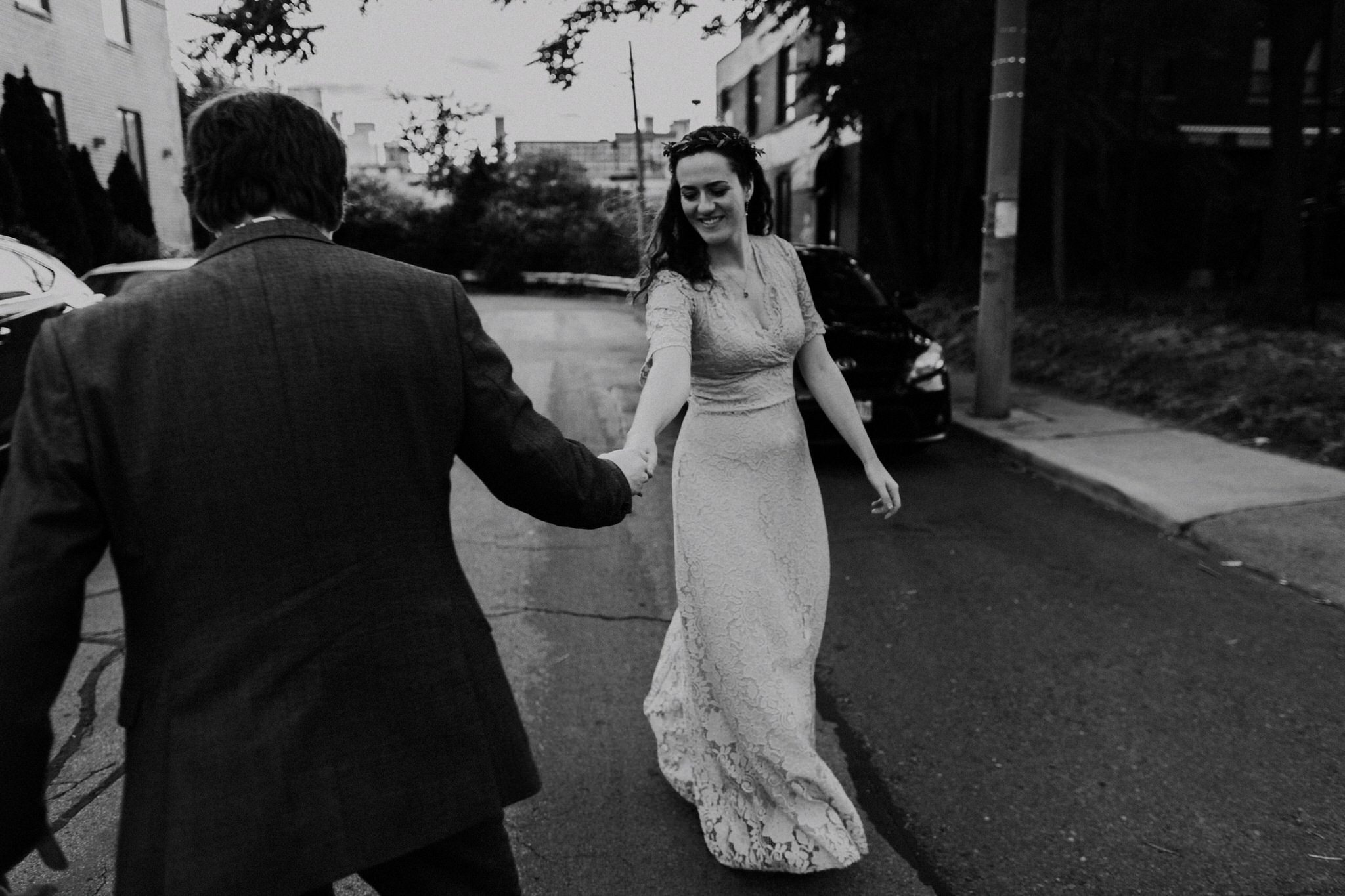 Merchants of Green Coffee Wedding - dancing on the street