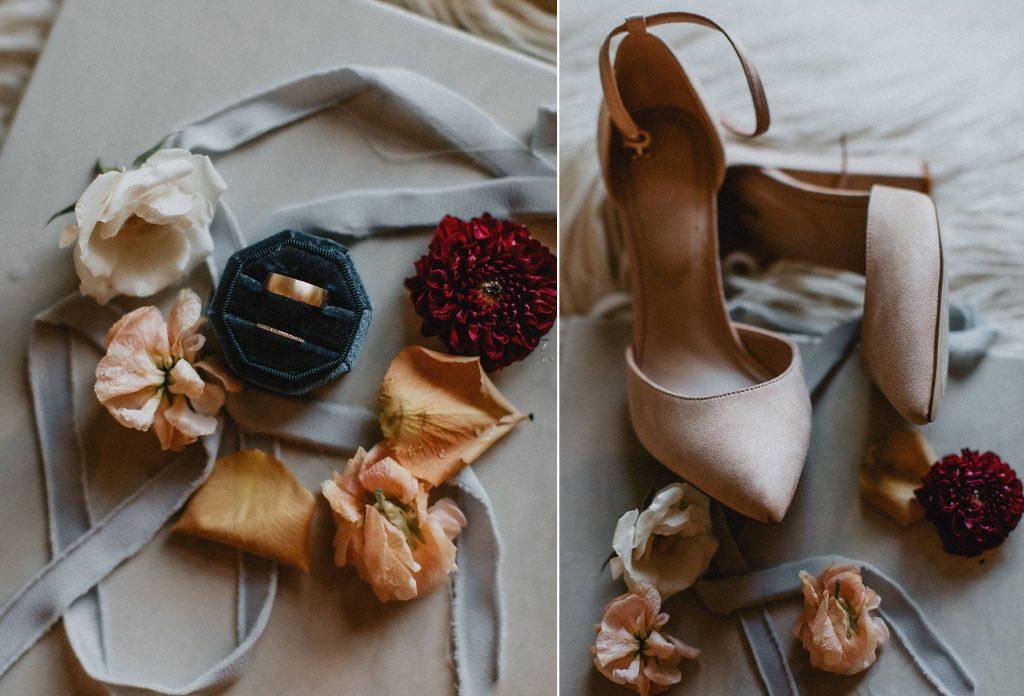 Details of Bride's accessories - Autumn Micro Wedding at Berkeley Fieldhouse