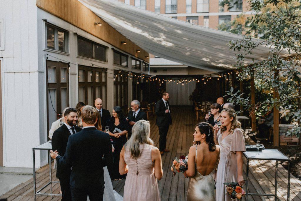 Small intimate covid wedding reception - Autumn Micro Wedding at Berkeley Fieldhouse